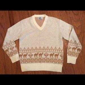 Vintage Coogi Forum 1980s Chunky v neck sweater